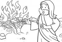 Moses and the Burning Bush Coloring Pages - Moses Talking to God On the Mount Horeb Coloring Page