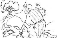 Moses and the Burning Bush Coloring Pages - the Incredible Moses Burning Bush Coloring Page to Encourage In