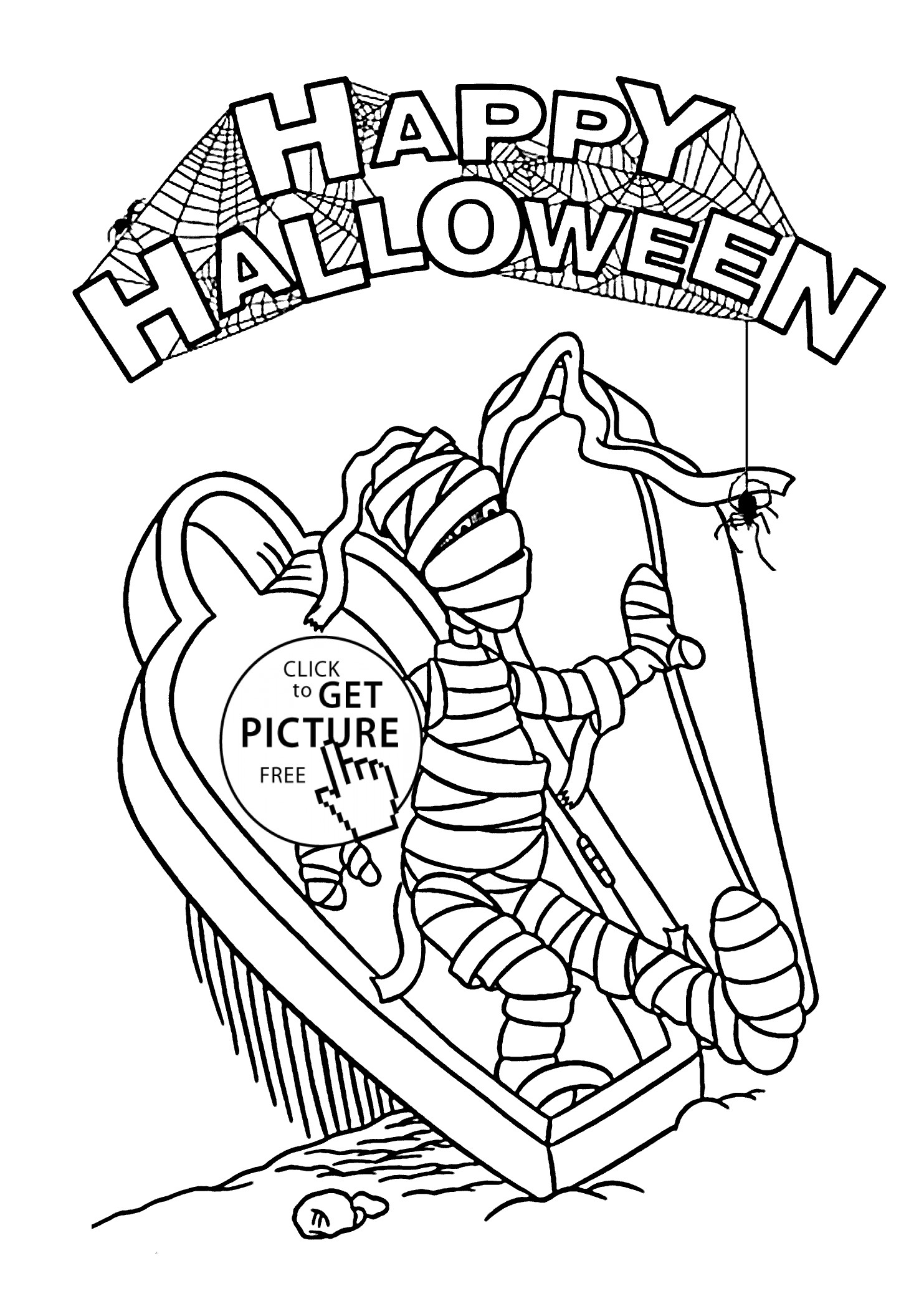 Mummy Coloring Pages  Download 11s - Free Download