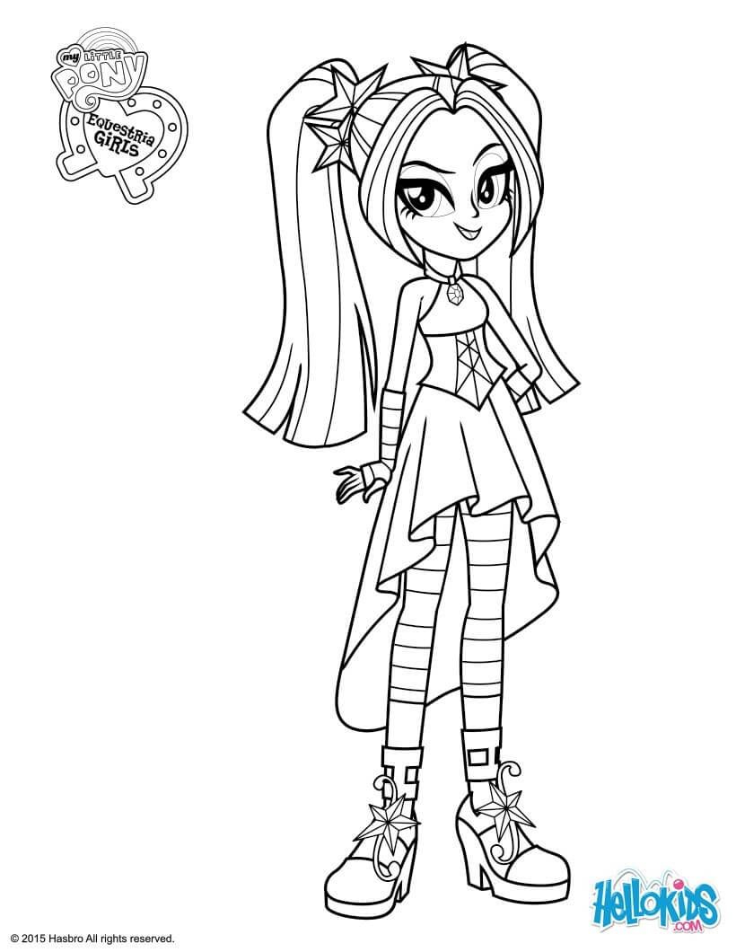 My Little Pony Equestria Girls Coloring Pages  to Print 6r - Free Download