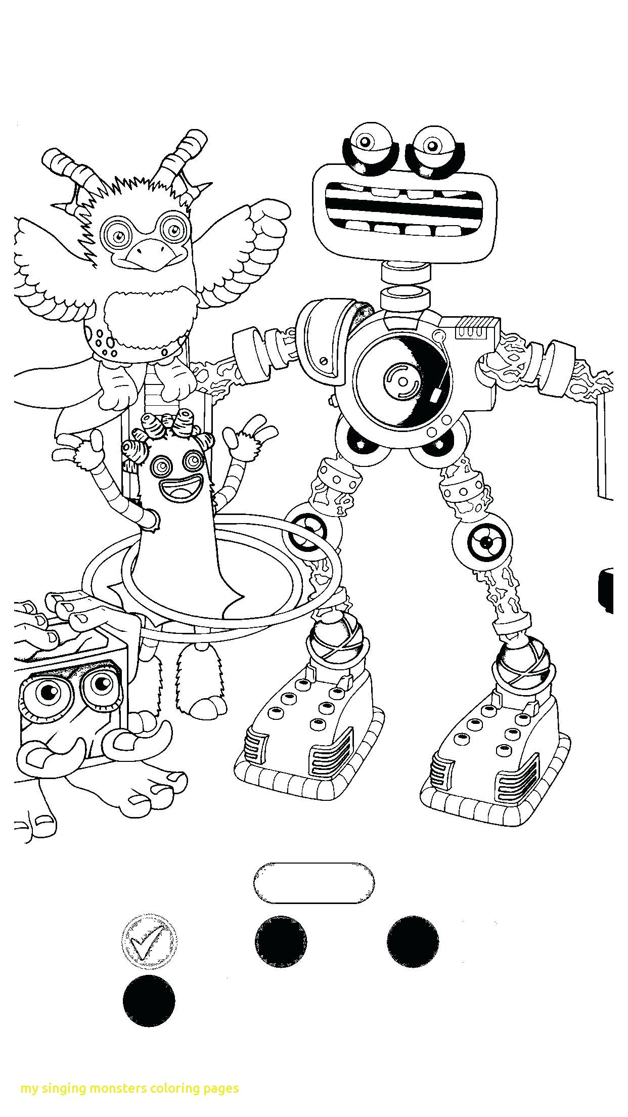 My Singing Monsters Coloring Pages - My Singing Monsters Coloring Pages Black and White Monsters Coloring