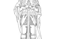 Mystery Of History Coloring Pages - St Joan Of Arc 12 Free Hand Drawn Catholic Coloring