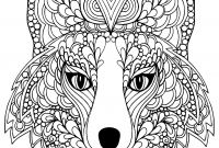 Mythological Creatures Coloring Pages - Coloring Page Beutiful Fox Head Free to Print