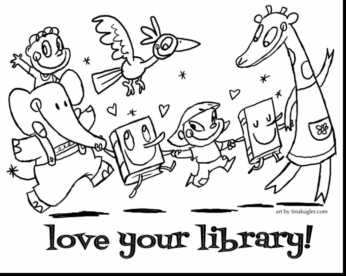 National Library Week Coloring Pages Download 6d - Free For Children