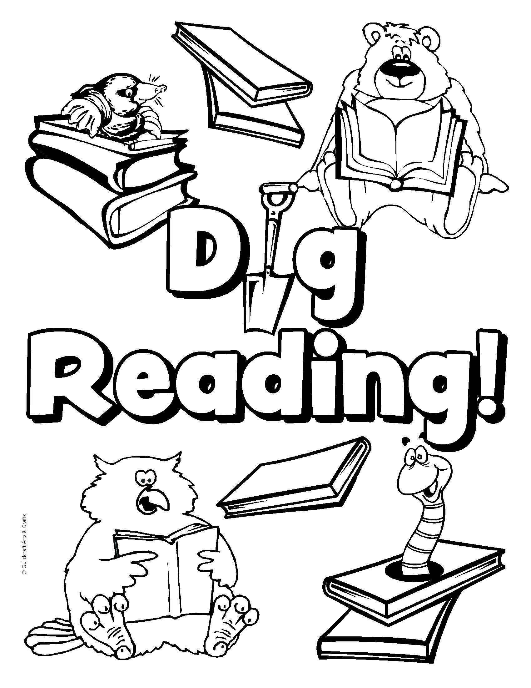 National Library Week Coloring Pages Download 8e - To print for your project