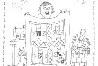 National Library Week Coloring Pages - National Quilting Day Coloring Page