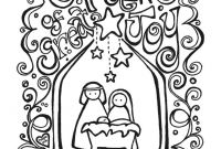 Nativity Scene Coloring Pages - Christmas Coloring Pages Nativity Free Printable