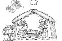 Nativity Scene Coloring Pages - Mommy Circus Nativity Coloring Page Sunday School
