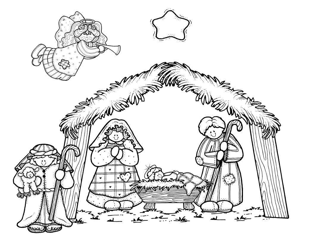 Nativity Scene Coloring Pages  to Print 18j - Free For kids