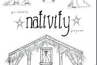 Nativity Scene Coloring Pages - Nativity Scene Coloring Pages Gallery