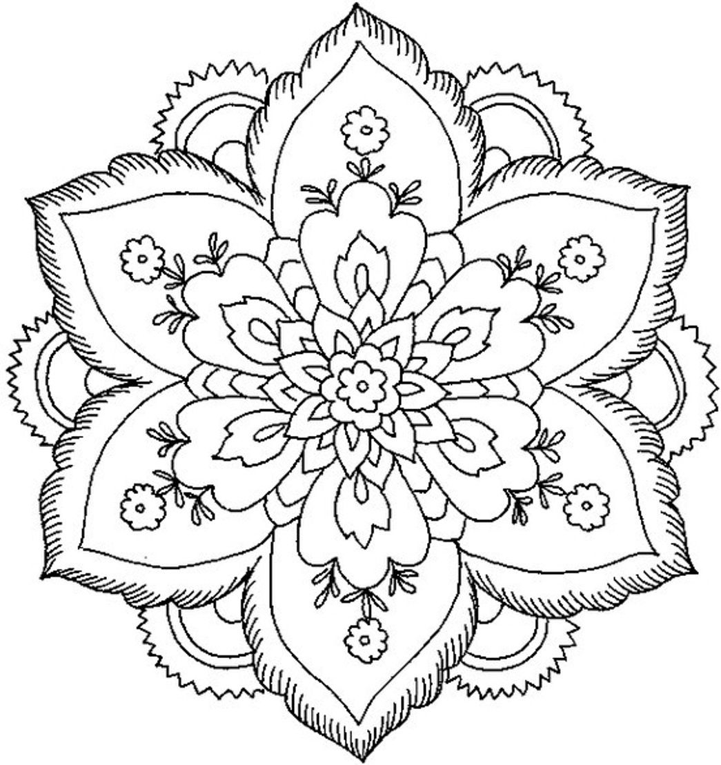 Nature Mandala Coloring Pages  to Print 13p - Save it to your computer