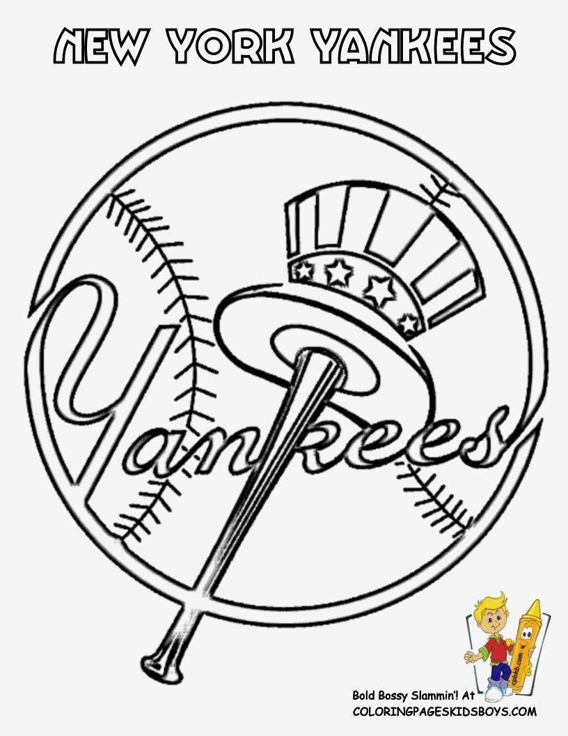 New York Yankees Coloring Pages  Gallery 10d - To print for your project