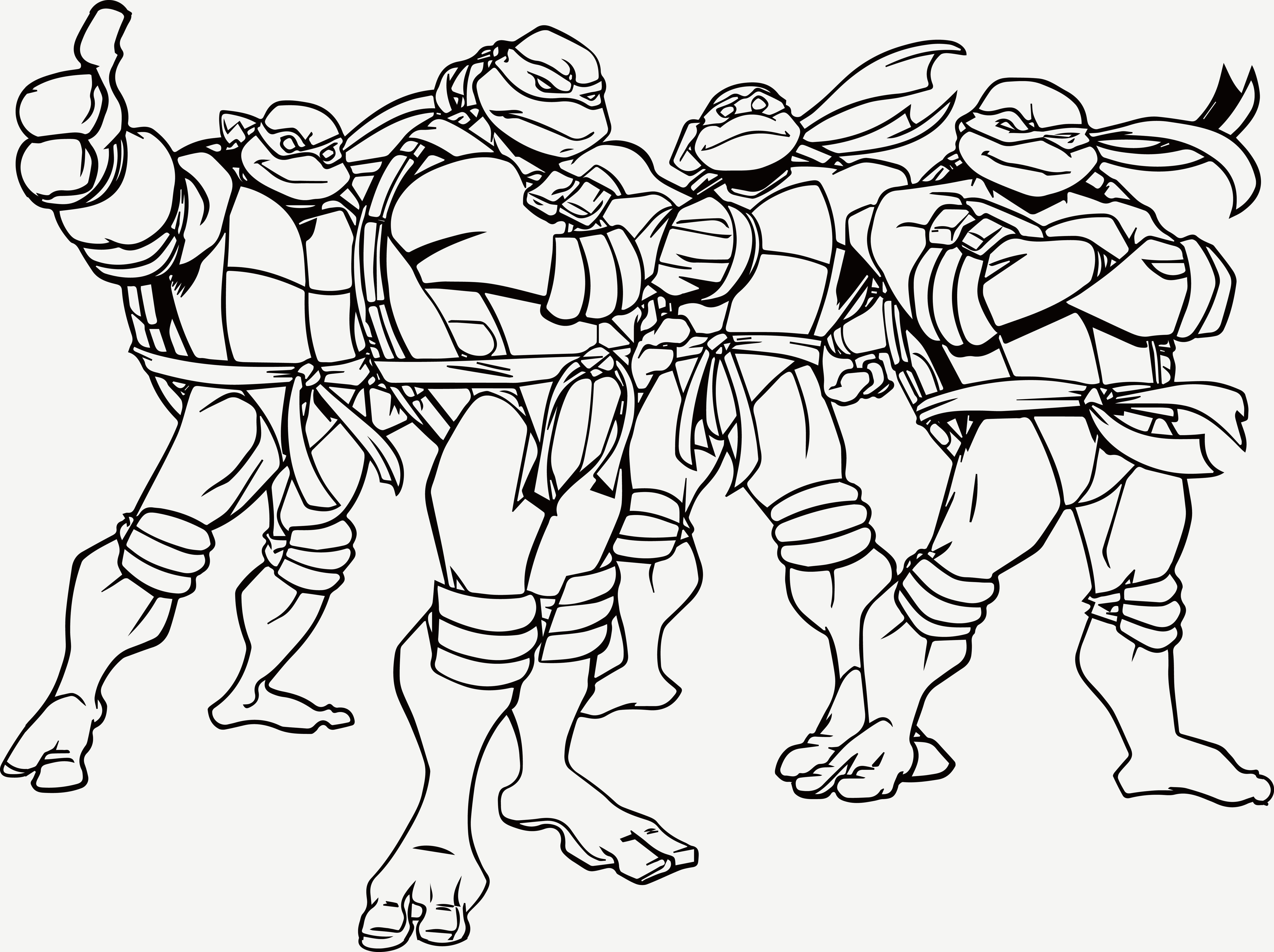 Nickelodeon Teenage Mutant Ninja Turtles Coloring Pages  Collection 13i - Free For kids