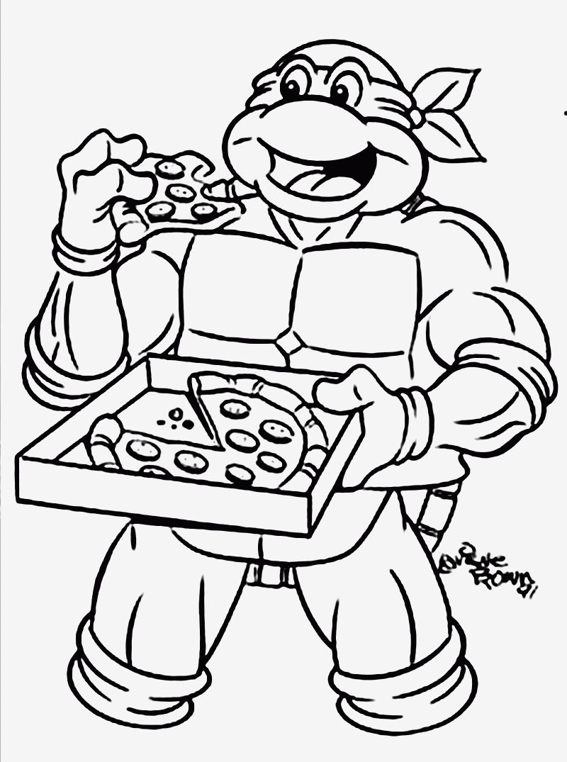 Nickelodeon Teenage Mutant Ninja Turtles Coloring Pages  Collection 12k - Save it to your computer
