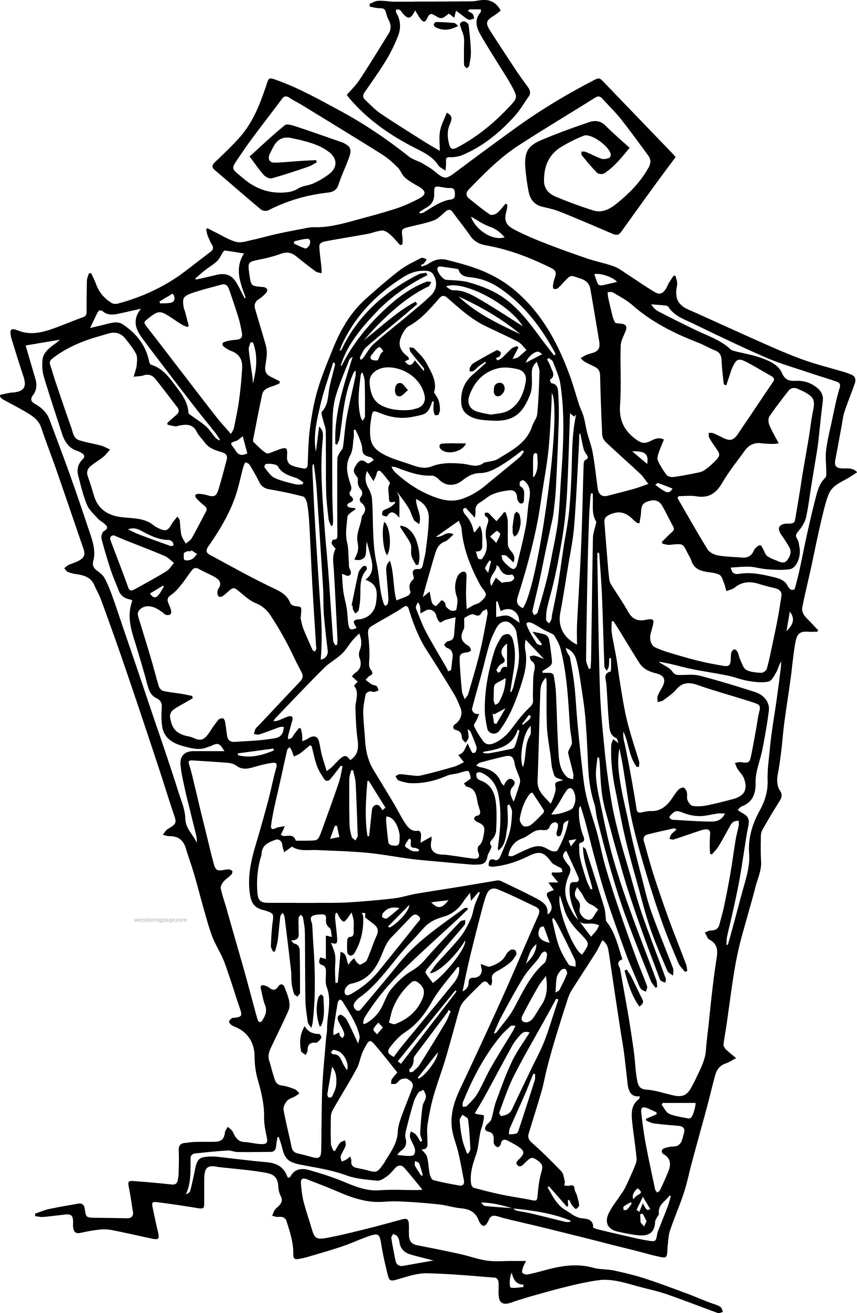 Nightmare before Christmas Coloring Pages  Gallery 20c - To print for your project