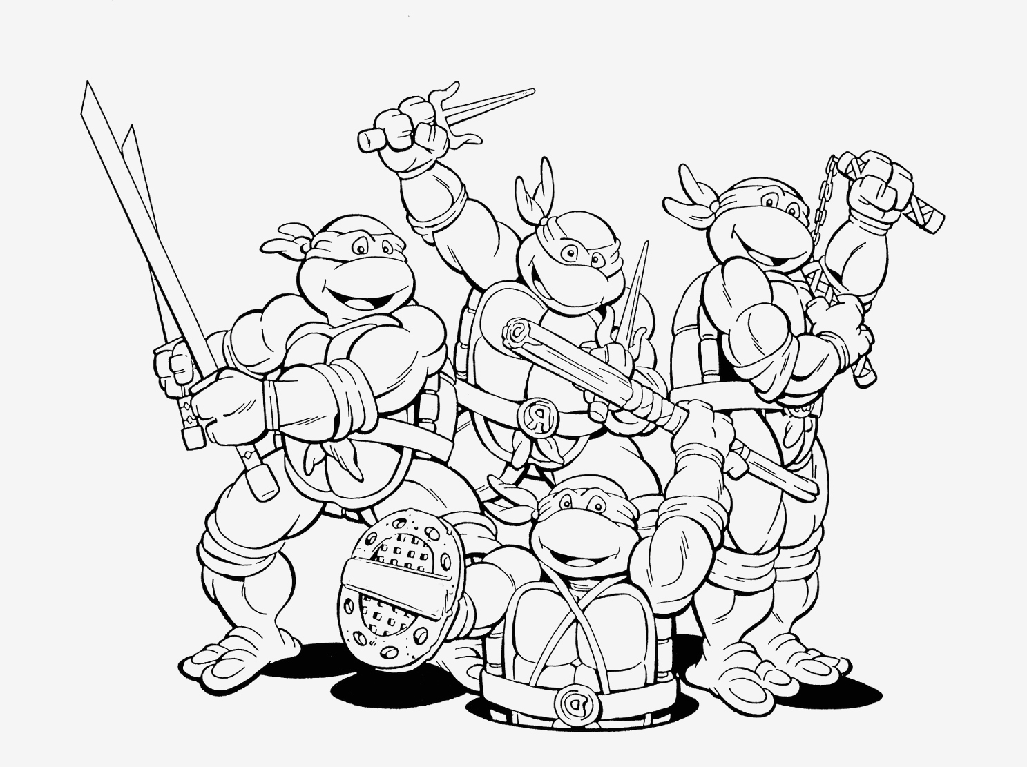 Ninja Turtles Movie Coloring Pages  to Print 15p - Free For Children