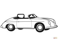 Old Car Coloring Pages - Classic Convertible Car Coloring Page