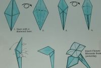 Origami Coloring Pages - 3 origami Rose and Stem Instructions Coloring Pages