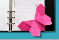"""Origami Coloring Pages - origami Facile Marque Page """"papillon"""" Tr¨s Facile"""