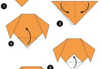 Origami Coloring Pages - origami Step by Step Instructions Of A Dog Face