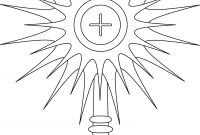 Our Lady Of Fatima Coloring Pages - Monstrance Coloring Page Google Search