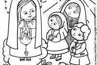Our Lady Of Fatima Coloring Pages - Our Lady and the Fatima Children Coloring Page C2a9 2017 R Miller