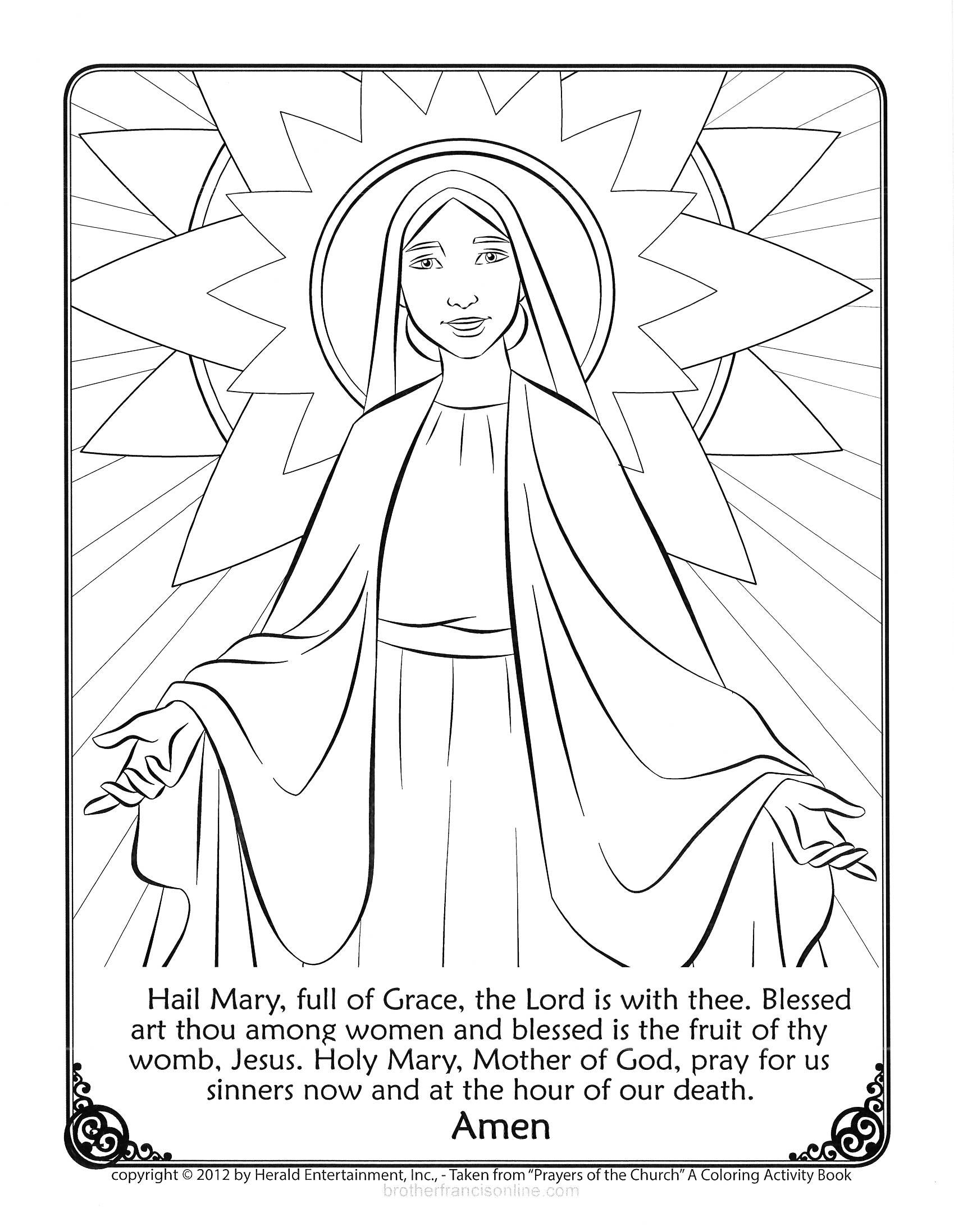Our Lady Of Fatima Coloring Pages  Gallery 14s - Free For Children
