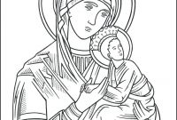 Our Lady Of Fatima Coloring Pages - St Mary Coloring Pages Our Lady Perpetual Help Coloring Page Saint