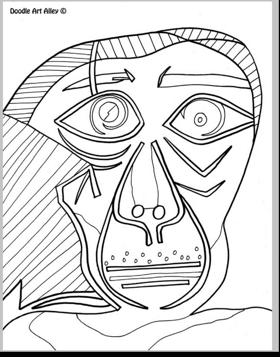 Pablo Picasso Coloring Pages  to Print 9g - Free For Children