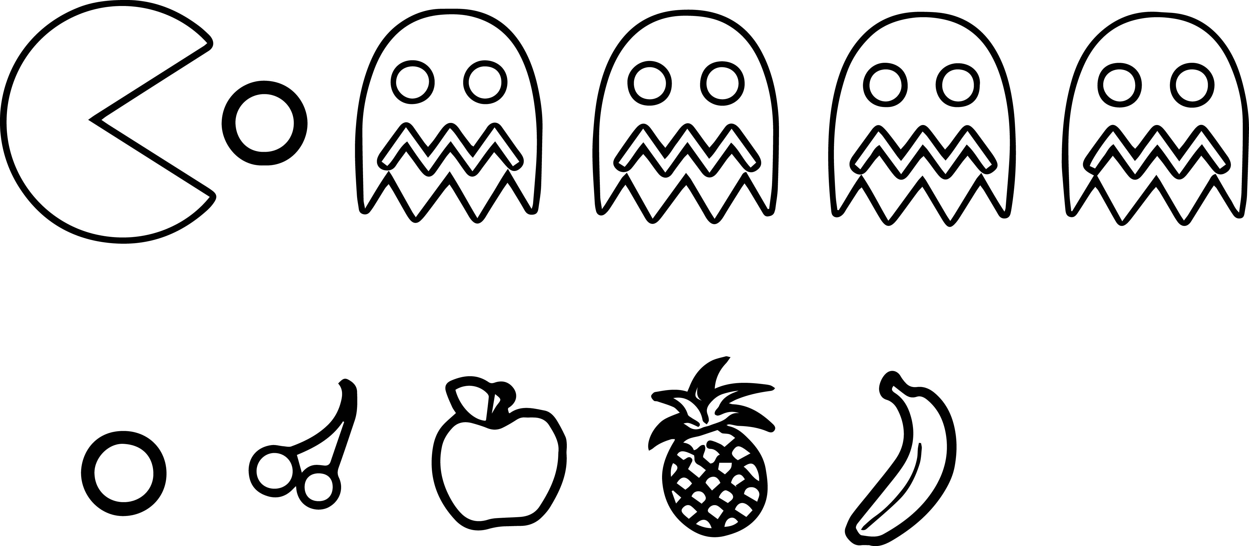 Pac Man Coloring Pages to Print  Printable 14d - Free For kids