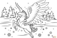Pegasus Coloring Pages - Awesome Unicorn Pegasus Coloring Coloring – Doyanqq