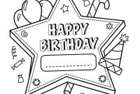 Personalized Happy Birthday Coloring Pages - 25 Free Printable Happy Birthday Coloring Pages