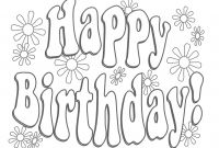 Personalized Happy Birthday Coloring Pages - Birthday Archives forensicstore