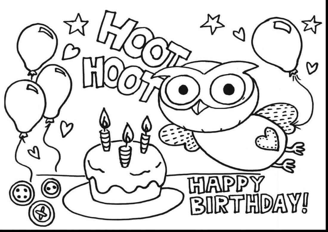 Personalized Happy Birthday Coloring Pages  to Print 4b - Free For Children