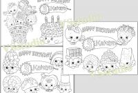Personalized Happy Birthday Coloring Pages - Personalized Shopkins Birthday Party Printable Favor Childrens