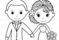 Personalized Wedding Coloring Pages - Printable Personalized Wedding Coloring Activity Book Favor Kids 8 5