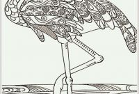 Pink Flamingo Coloring Pages - Heron Bird Adult Coloring Pages Free
