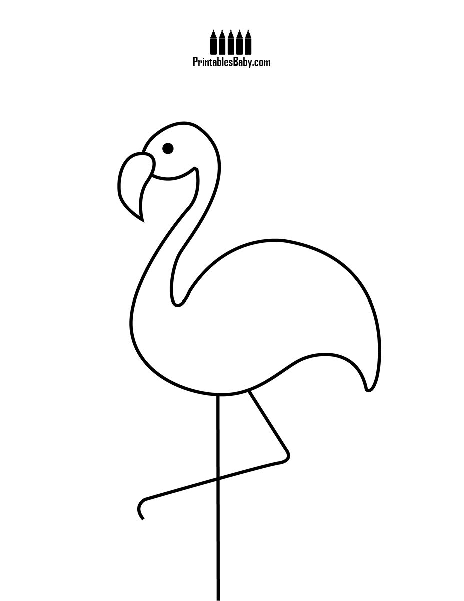 Pink Flamingo Coloring Pages  to Print 20f - Save it to your computer