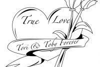 Pink Ribbon Coloring Pages - Hearts and Roses Coloring Pages