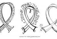 Pink Ribbon Coloring Pages - Pink Ribbon Coloring Pages