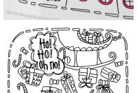 Pink Ribbon Coloring Pages - Printable Christmas Coloring Page Eighteen25