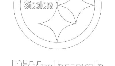 Pittsburgh Steeler Coloring Pages - Steelers Logo Coloring Page Nfl Logos Coloring Pages attractive