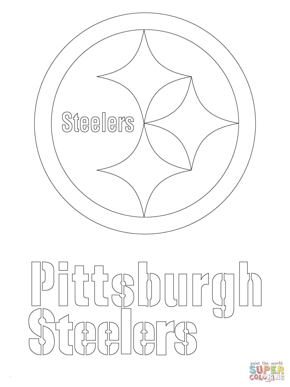 Pittsburgh Steeler Coloring Pages  Gallery 17n - To print for your project