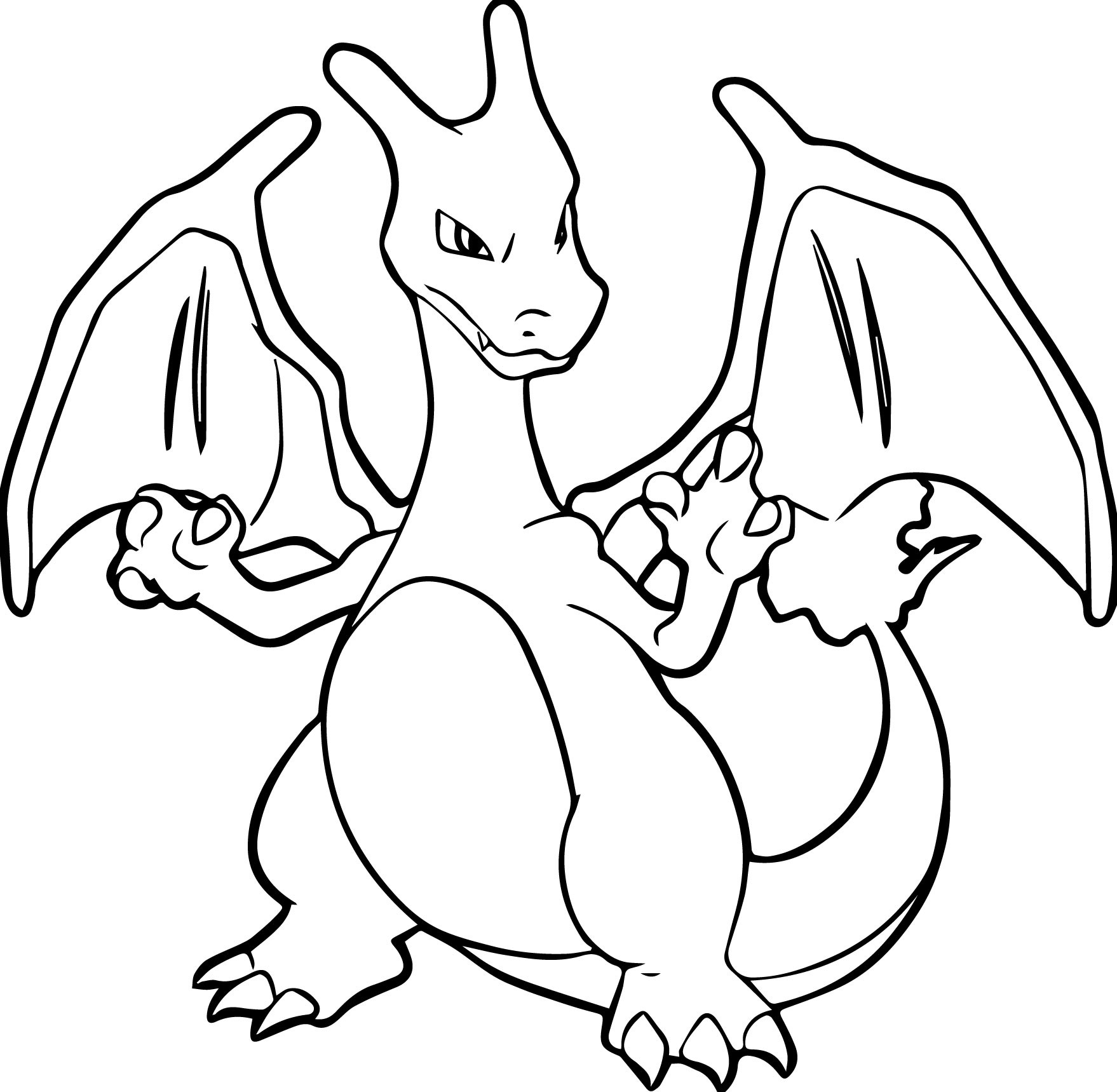 Pokemon Coloring Pages Charizard  Printable 11n - Save it to your computer