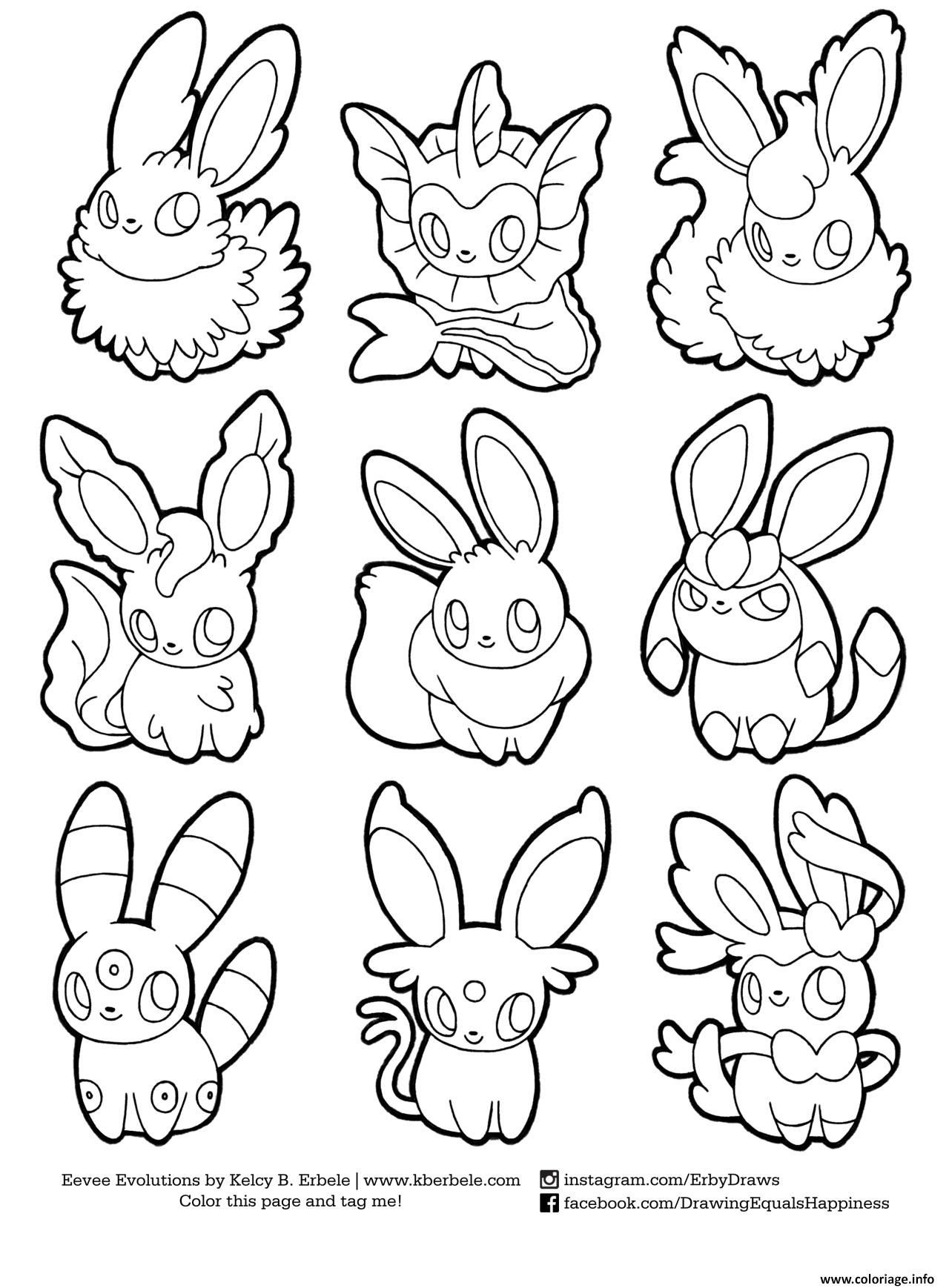 Pokemon Eevee Evolutions Coloring Pages  Collection 6g - Save it to your computer