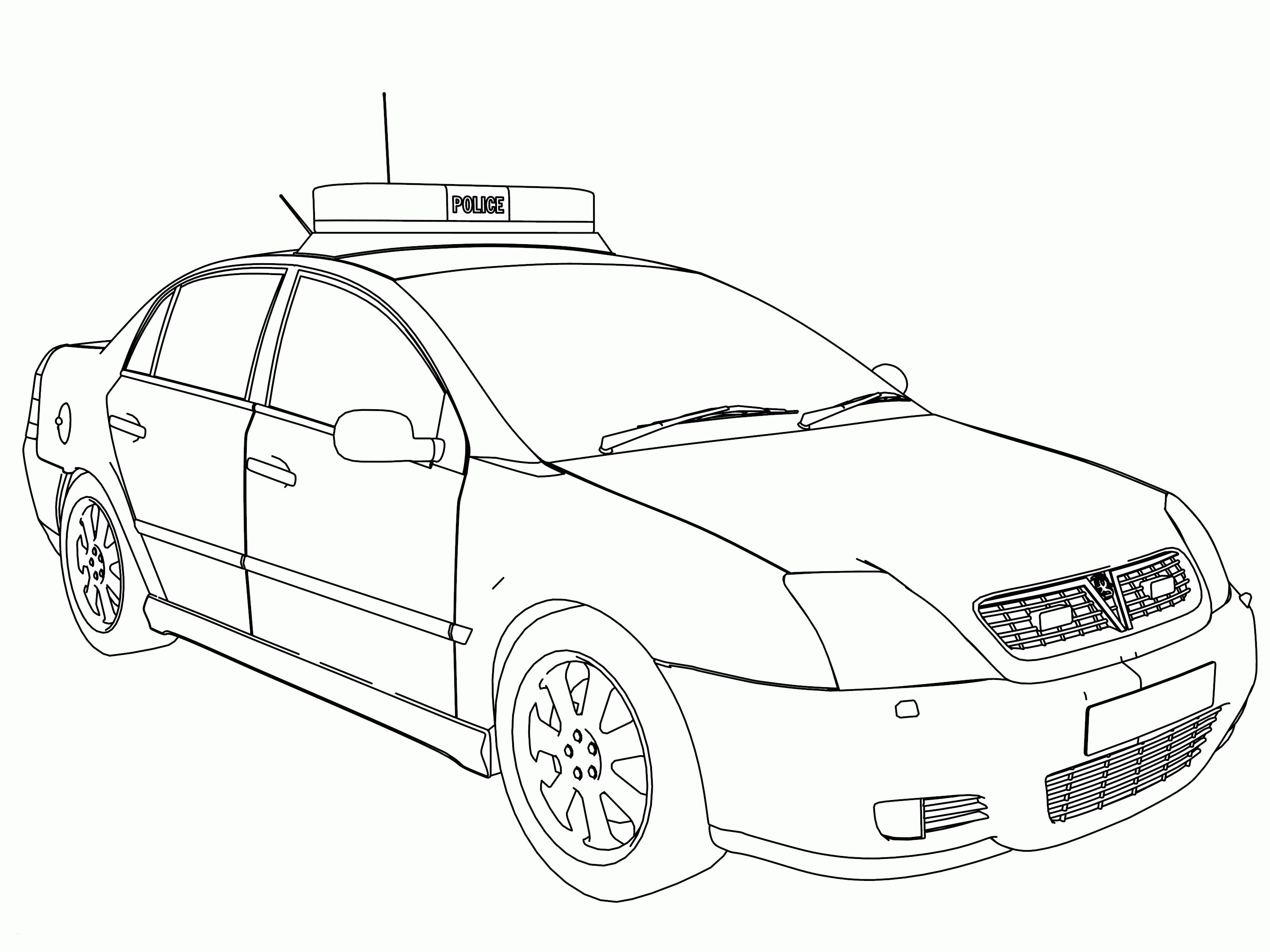 Police Car Coloring Pages  Printable 4l - Free For Children