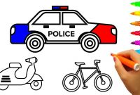 Police Car Coloring Pages - Learn Colors for Kids with Police Car Coloring Pages Vehicles