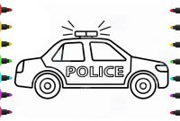 Police Car Coloring Pages - Police Car Drawing Easy Coloring Pages How to Draw A Police Car
