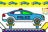 Police Car Coloring Pages - Repair Police Car Coloring Pages Colors for Kids Vehicles Video