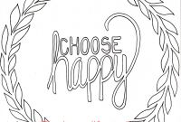 Positive Affirmation Coloring Pages - Choose Happy Coloring Page Simple Adult Coloring Page Coloring